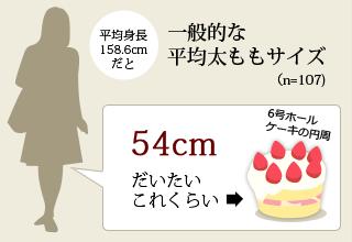 一般的な太ももサイズ